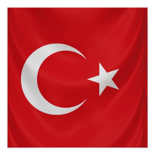 turkish national flag, square poster