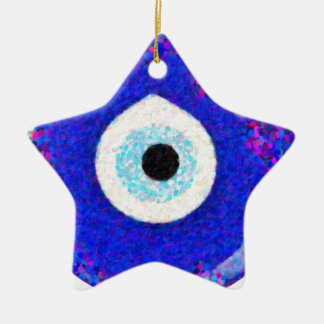Turkish Nazar Evil Eye Design Ceramic Ornament