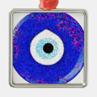 Turkish Nazar Evil Eye Design Metal Ornament