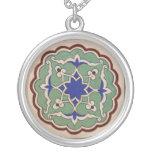 Turkish Ottoman style Round Pendant Necklace