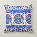 Turkish Ottoman Tile Design Throw Pillow