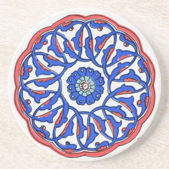 Turkish Ottoman Tile Pattern Coaster