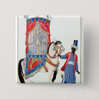 Turkish princess on her way to the mosque pinback button