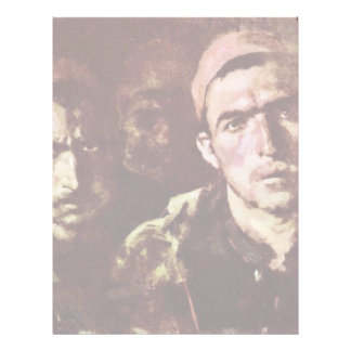 Turkish Prisoners By Grigorescu Nicolae Customized Letterhead