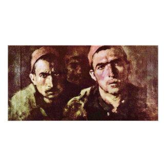 Turkish Prisoners By Grigorescu Nicolae Photo Greeting Card