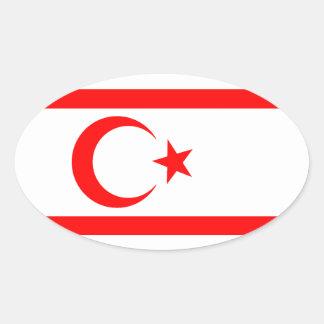 Turkish Republic of Northern Cyprus Oval Sticker
