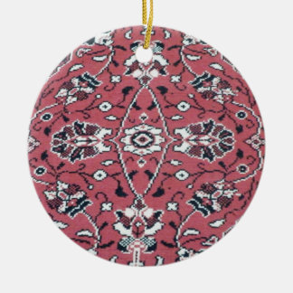 Turkish Rug Double-Sided Ceramic Round Christmas Ornament