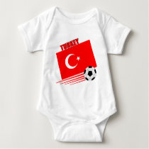 Turkish Soccer Team Baby Bodysuit