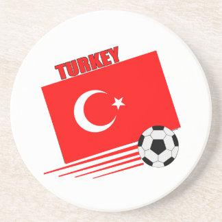 Turkish Soccer Team Drink Coaster