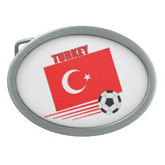 Turkish Soccer Team Oval Belt Buckles