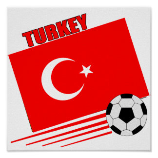 Turkish Soccer Team Poster