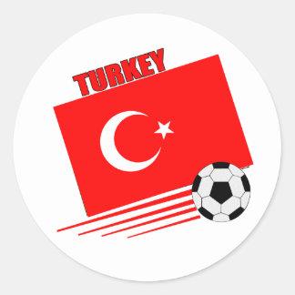 Turkish Soccer Team Round Sticker