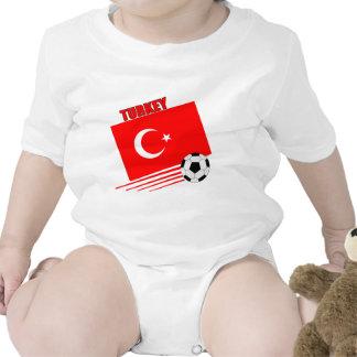 Turkish Soccer Team Baby Bodysuits