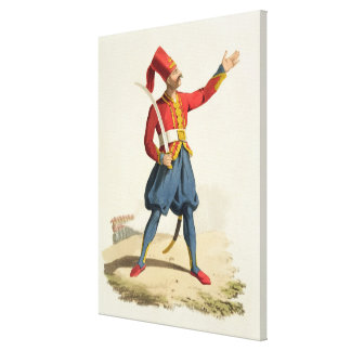 Turkish soldier, from 'Costumes of the Various Nat Canvas Print