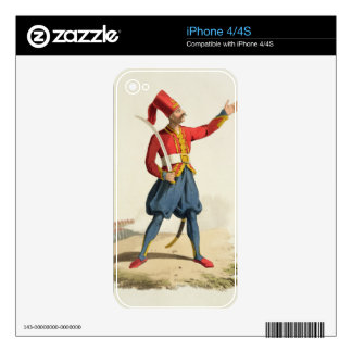 Turkish soldier, from 'Costumes of the Various Nat iPhone 4 Decal