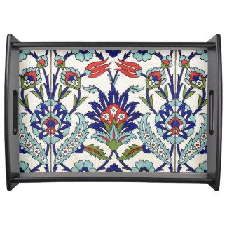 Turkish tile food trays