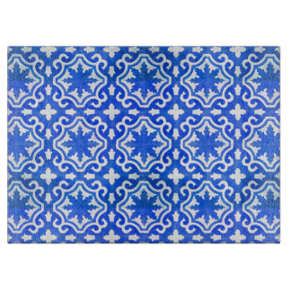 Turkish Tile in Blue and White Cutting Board