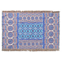 Turkish Tile Pattern Ottoman Iznik designs Throw