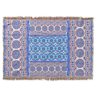 Turkish Tile Pattern Ottoman Iznik designs Throw