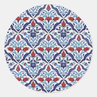 Turkish tile Round Sticker