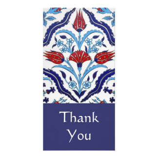 Turkish tile Thank You Photo Card