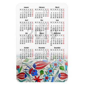 Turkish Tiles 2019 calendar Magnet