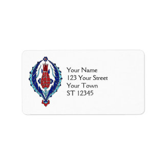 Turkish Tiles Address Label