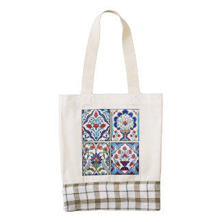 Turkish tiles collection zazzle HEART tote bag
