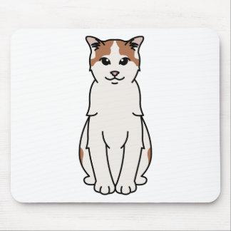 Turkish Van Cat Cartoon Mouse Pad