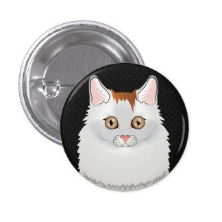 Turkish Van Cat Cartoon Paws Pins