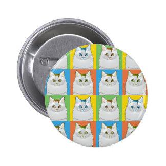 Turkish Van Cat Cartoon Pop-Art Pin