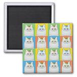 Turkish Van Cat Cartoon Pop-Art Fridge Magnets