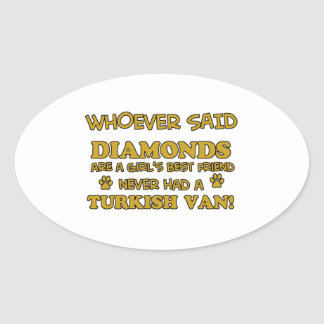 Turkish Van Cat designs Oval Sticker