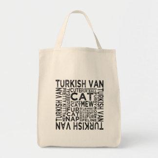 Turkish Van Cat Typography Tote Bag