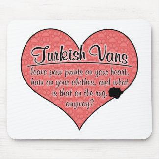Turkish Van Paw Prints Cat Humor Mouse Pad