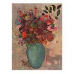 Turkish Vase, Odilon Redon, Vintage Flowers Floral Post Cards
