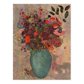 Turkish Vase, Odilon Redon, Vintage Flowers Floral Postcard