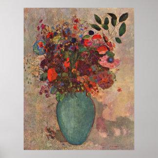 Turkish Vase, Odilon Redon, Vintage Flowers Floral Poster