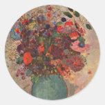 Turkish Vase, Odilon Redon, Vintage Flowers Floral Stickers