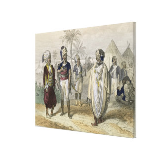 Turkish Volunteers' Camp, from 'Constantinople and Canvas Print