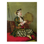 Turkish Woman with a Tambourine Postcard