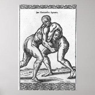 Turkish Wrestlers Poster