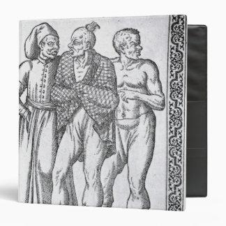 Turkish Wrestlers Vinyl Binder