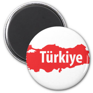 Türkiye contour icon 2 inch round magnet