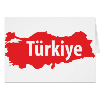 Türkiye contour icon card