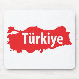 Türkiye contour icon mouse pad