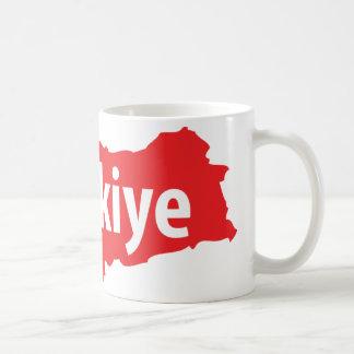 Türkiye contour icon mug