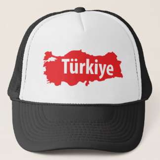 Türkiye contour icon trucker hat