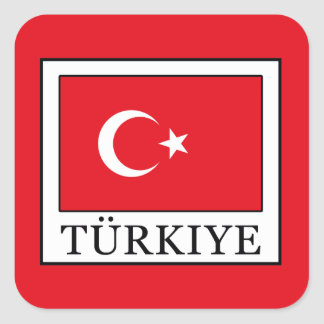 Türkiye Square Sticker