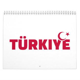 Türkiye turkey calendar